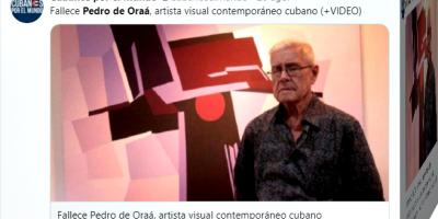 Muere el pintor cubano Pedro de Oraá, gran maestro del concretismo en la isla