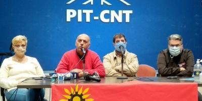El PIT-CNT se mostró conforme con el acatamiento al paro de este jueves