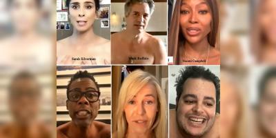 Celebridades de Hollywood se desnudan buscando evitar el voto en blanco, algo que podría favorecer a Trump