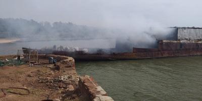 Buque pesquero se incendió esta madrugada frente a las costas de Montevideo