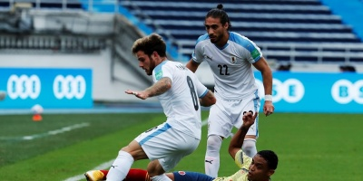 Catar 2022: Uruguay goleó a Colombia en la tercera fecha de las eliminatorias