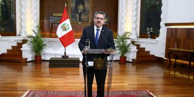 """Manuel Merino anuncia su dimisión """"irrevocable"""" a la Presidencia de Perú"""