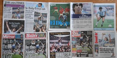 Los diarios del mundo reflejan en sus portadas el fallecimiento de Diego Maradona