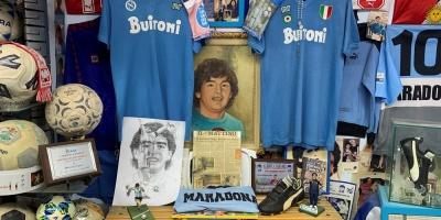 El relicario de la familia napolitana de Maradona
