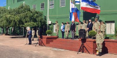 García despidió a los efectivos de las Fuerzas Armadas que parten hoy en misión al Congo
