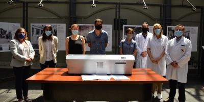 El Hospital Español recibió un equipo para desinfectar mascarillas N95 que se utilizan contra el coronavirus