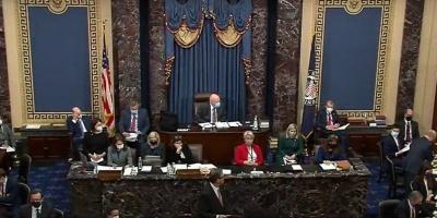 Senado de Estados Unidos aprobó constitucionalidad de juicio político a Trump