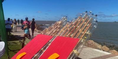 """Presentaron el proyecto """"Ecosurf"""" para la fabricación de tablas de surf utilizando botellas plásticas recicladas"""
