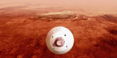 El Perseverance llegó a Marte y comenzó a tomar fotografías