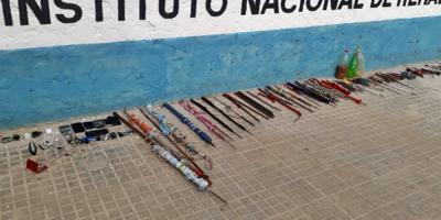 Requisa en cárcel de Maldonado terminó con incautación de cortes carcelarios y celulares