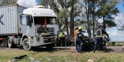 Una mujer de 68 años falleció en un múltiple choque ocurrido en el km 274 de Ruta 5