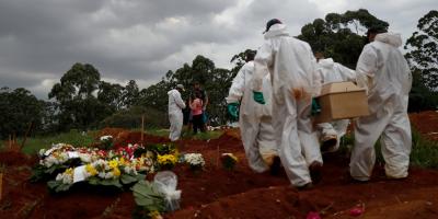 Brasil suma 3.459 nuevas muertes por covid-19 y supera las 360.000 en total
