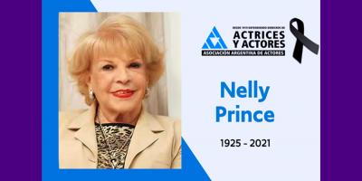 Murió la actriz, locutora y cantante argentina, Nelly Prince. Tenía 94 años