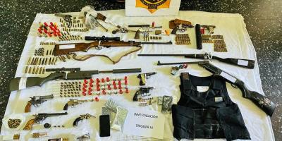 Ocho detenidos tras operación por tráfico de armas en Montevideo y Rocha