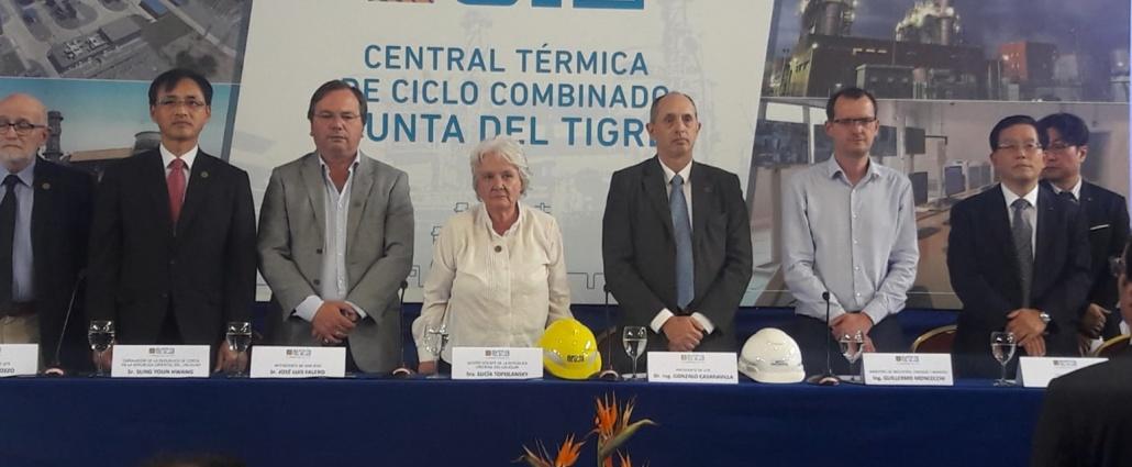 """UTE inauguró la Estación Térmica de Ciclo Combinado """"Punta del Tigre"""" en el departamento de San José."""